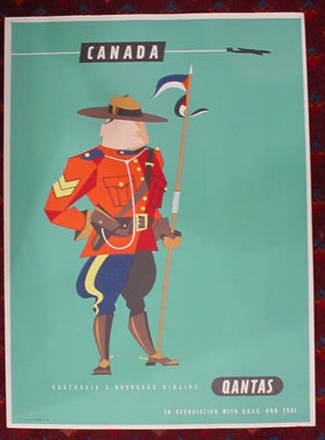 Canada mountie travel poster