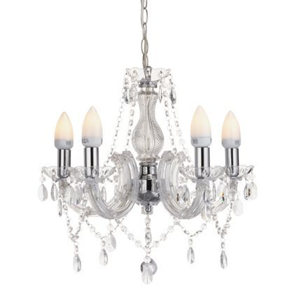Marie Therese - 5 Light Chandelier - Clear at Homebase -- Be inspired and make your house a home. Buy now.