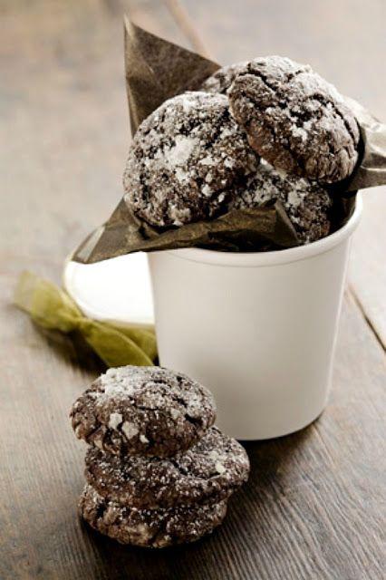 Paula Deen's Chocolate Gooey Butter Cookies {www.mikaelarae.blogspot.com}
