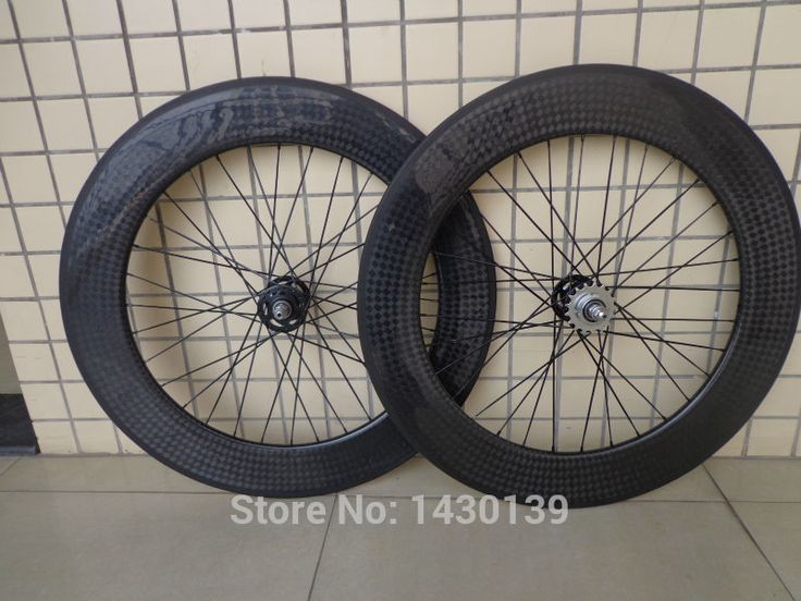 New 700C 88mm clincher rims Fixed Gear Bike 12K full carbon fibre bicycle wheelset with Fixed Gear hubs 23 25mm width Free ship #Affiliate