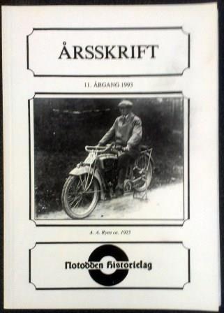 Notodden historielag Årsskrift 1993 - brukt bok
