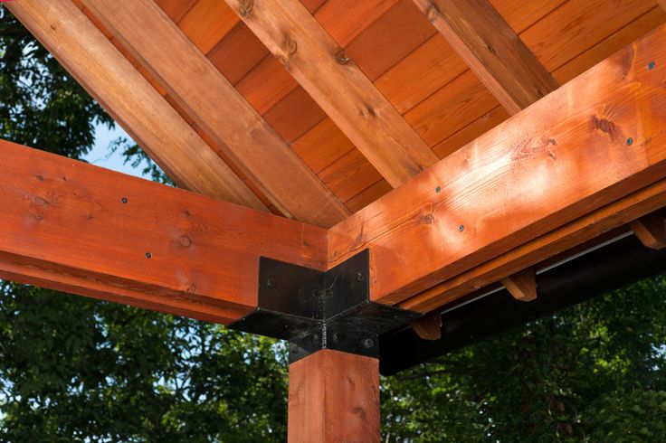 Cedar Lumber 3x6 Cedar Beams Supported By 6x6 Cedar Posts