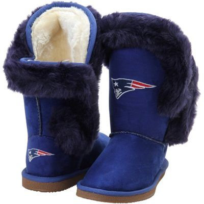Women's New England Patriots Cuce Navy Blue Champions Boots