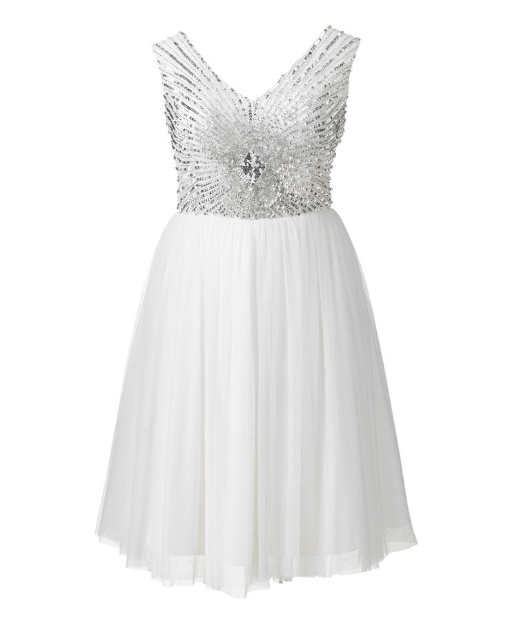Short Plus Size Wedding Dresses Embellished Dress Metallic And