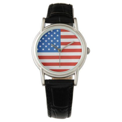 United states national flag wrist watch - personalize gift idea diy or cyo