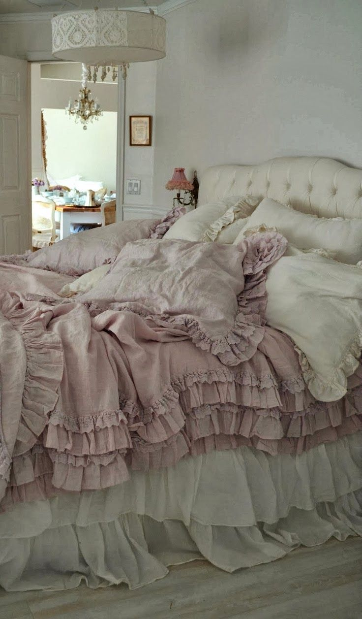 1000 ideas about romantic bedding on pinterest shabby 17048 | dfd4d587a7108ccd7963f208eaa135a7