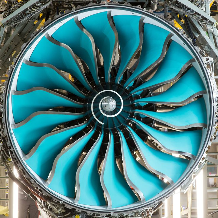 Composite-made fan from a Rolls Royce jet engine