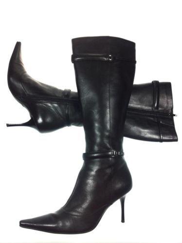 Zwarte leren laarzen van Buffalo, hakhoogte 8,3 cm, maat 37! Tante Twiggy Shop <3 www.marktplaats.nl/verkopers/20281615.html