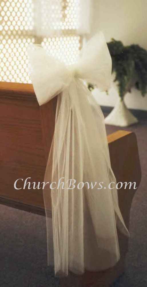 instead of flowers for the church rows