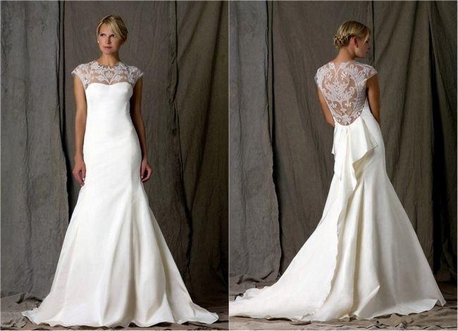 Lace Back And Keyhole Wedding Dresses 2013