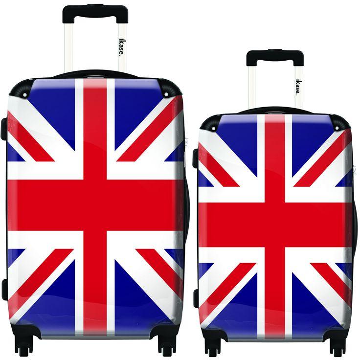 iKase London Flag 2-piece Hardside Spinner Luggage Set
