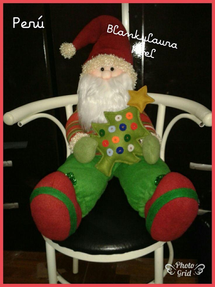 Papa Noel zapato con su arbolito.