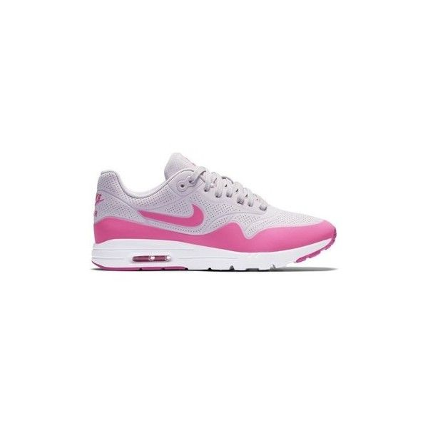 Nike W Air Max 1 Shoes (Trainers) ($220) ❤ liked on Polyvore featuring shoes, sneakers, pink, trainers, women, nike shoes, nike, nike trainers, pink sneakers and nike sneakers