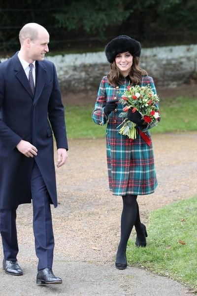 Kate Middleton Photos - Prince William, Duke of Cambridge, and Catherine, Duchess of Cambridge attend Christmas Day Church service at Church of St Mary Magdalene on December 25, 2017 in King's Lynn, England. - Members Of The Royal Family Attend St Mary Magdalene Church In Sandringham