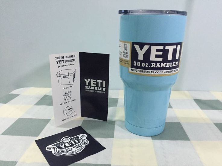 Teal Blue Brand Yeti Coolers Rambler Colster Stainless Steel 30oz Powered Coated | eBay