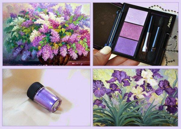 Портрет в сиреневых тонах – пигмент MAC Violet и тени Shiseido Bouquet