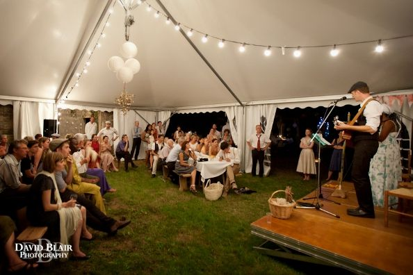 relaxed marquee wedding reception