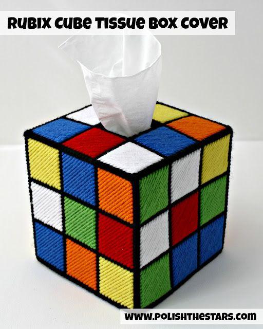 Caja de tissues de Cubo de Rubik