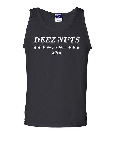 Deez Nuts For President Funny Tank Top Political Sarcastic Adult Humor Gym Workout