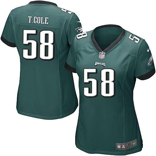 Nike NFL Philadelphia Eagles #58 Trent Cole Limited Women Midnight Green Team Color Jersey Sale