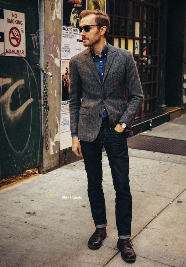 ツイードジャケット着こなしメンズ how to wear tweed materials