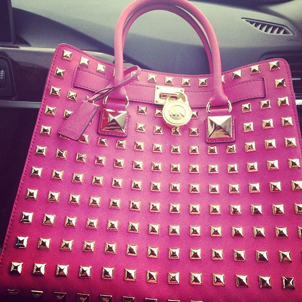 Pink And Gold Studded Michael Kors Bag Bags Pinterest