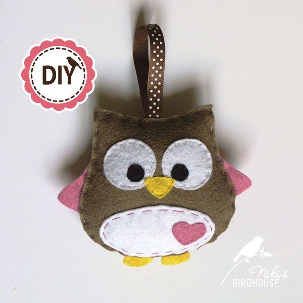 DIY owl hanging