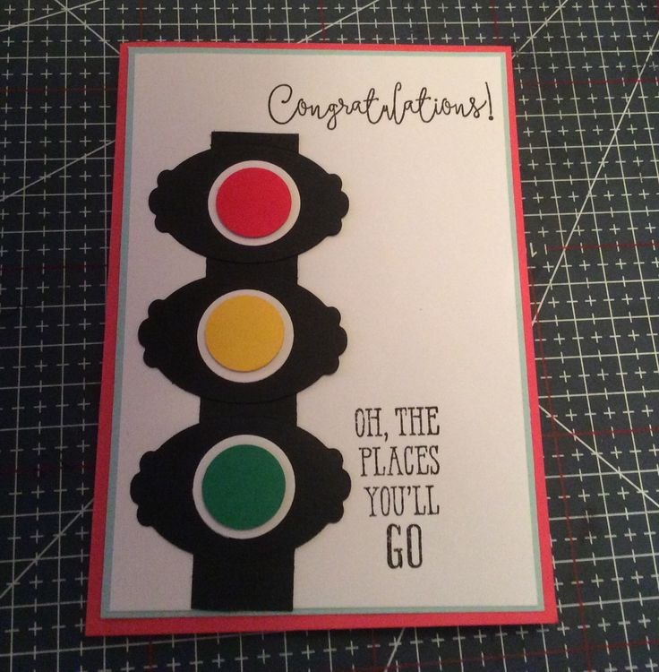 Card for a teenager who just passed her licence test.