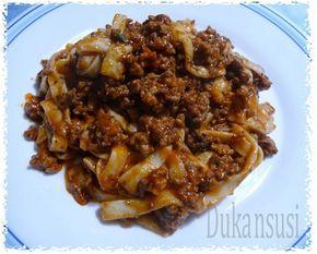 Recetas Dukan - Dukansusi: Espagueti Dukan a la boloñesa ( desde Ataque)