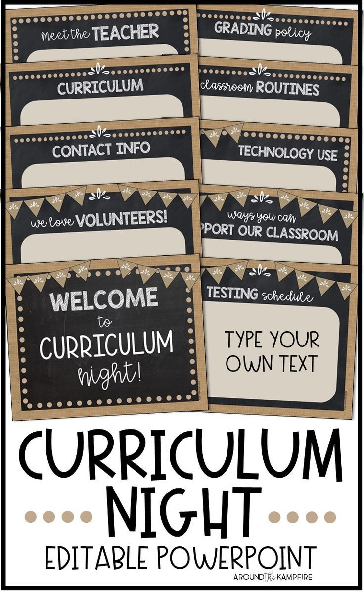 Back to School Parent Night PowerPoint-EDITABLE- Burlap and