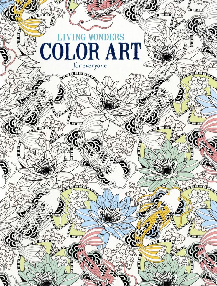 Drawing Book Cover Design For Adults : Living wonders color art for everyone adult coloring book