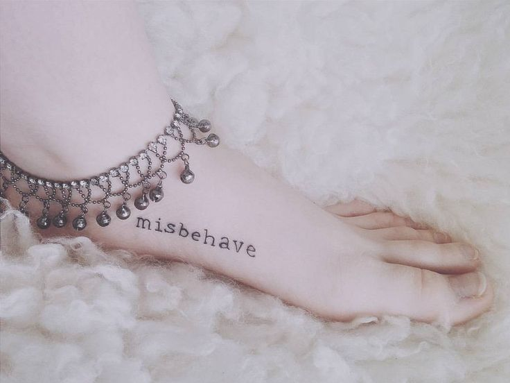 """50 Likes, 4 Comments - 。o ❆ Sandi ❆ o。 (@sundae_afternoons) on Instagram: """"Women of good behavior rarely succeed in life #misbehave #newink #minitattoo #smalltattoo…"""""""