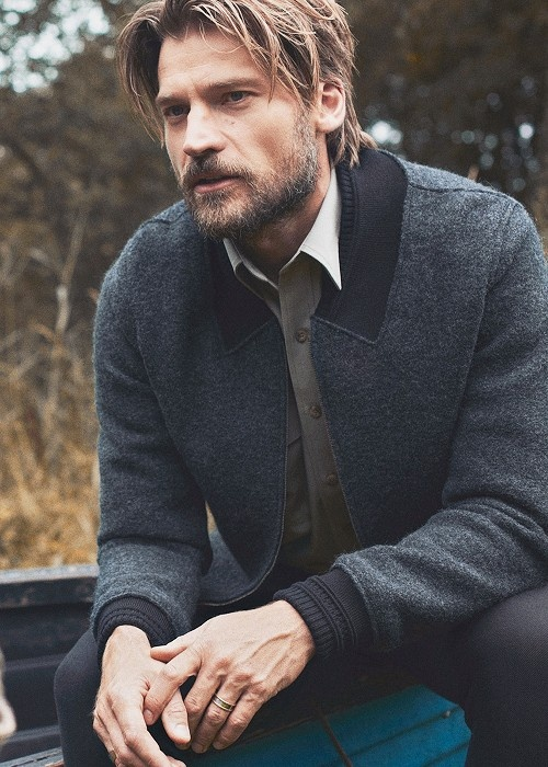 A fine example of why men with beards are most pleasing on the eye....Nicolaj Coster Waldau.