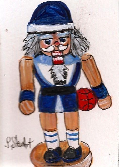 ACEO Nutcracker Painting Art 226 Basketball Player Guy Shorts SFA Penny StewArt #IllustrationArt