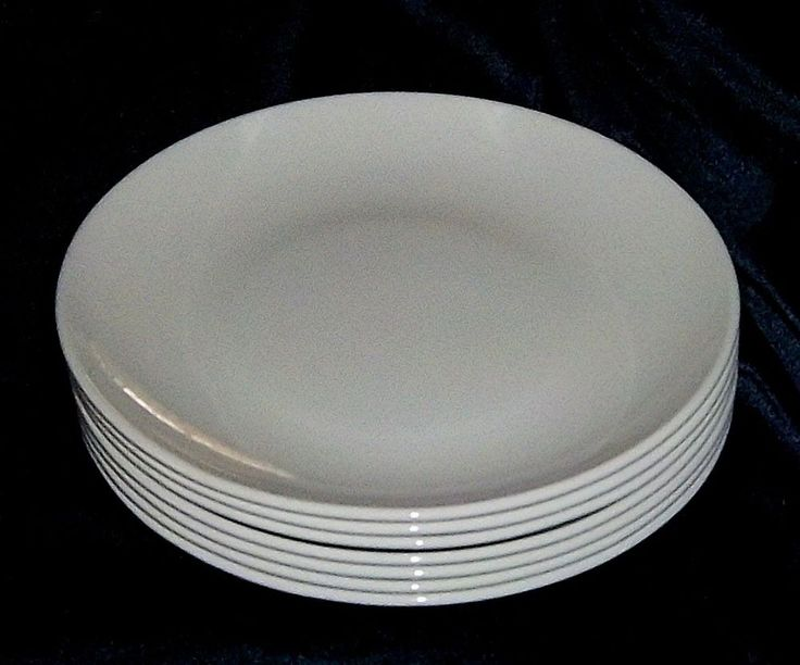 Corning Pyroceram White Coupe 6 5/8  Bread Butter Plates Set Of 7 L & 21 best Centura White by Corningware images on Pinterest | Pyrex ...