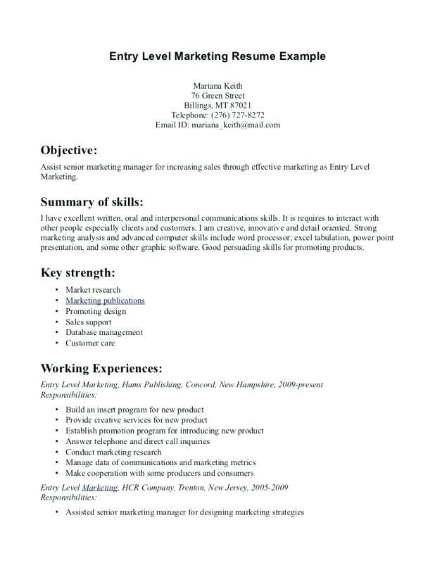example of the objective section on a resume