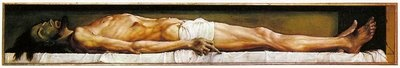 God Rested -- Holy Saturday by Pastor Walter Snyder. Painting of The Body of the Dead Christ in the Tomb by Hans Holbein the Younger at the Web Gallery of Art.