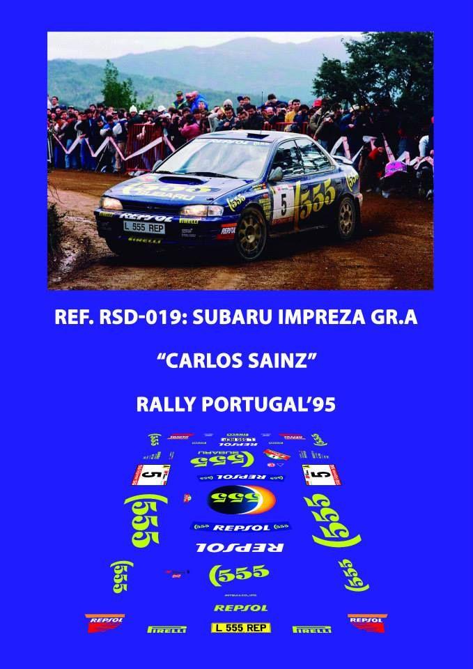 Ref. RSD-019: Subaru Impreza Gr.A Carlos Sainz - Rally de Portugal 1995