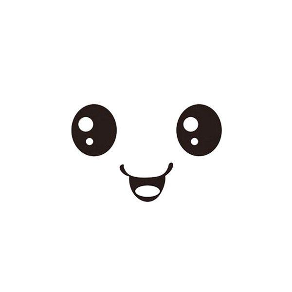 """Väggdekor - """"Kawaii ansikte"""""""