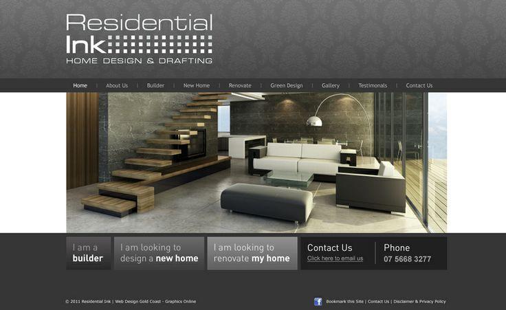 Website design for Residential Ink - Home Design & Drafting. #websitedesign #webdesign #web #design #graphicdesign #website #websites