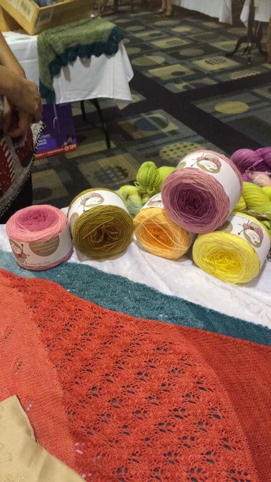 Châle Praliné festival de la p'tite laine