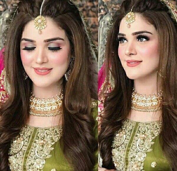 Pin By Daniyal Maqsood On Aaa In 2020 Pakistani Bridal Hairstyles Engagement Hairstyles Bridal Makeup Looks