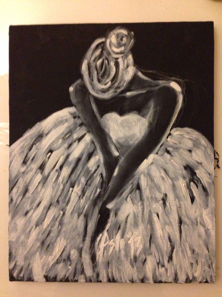 Aslı 40x50 oil paint and acrylic on canvas