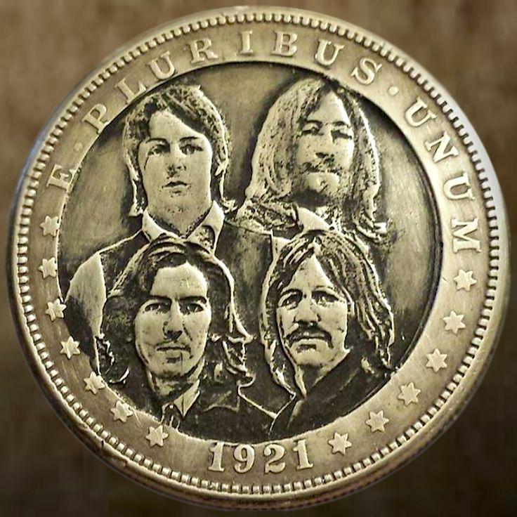 Ben Proctor Hobo Dollar The Beatles 1921 Morgan Dollar