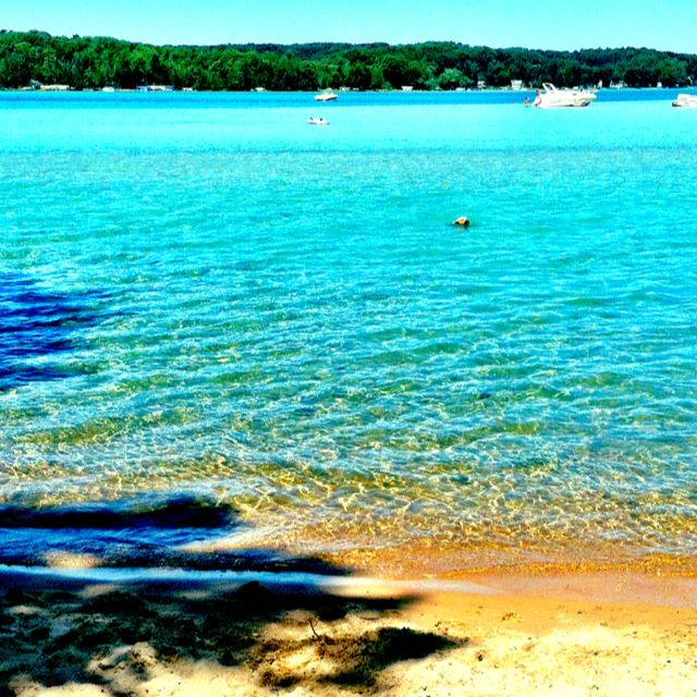 Torch Lake, Michigan - undoubtedly one of the most spectacular lakes in the world - the deepest, most ethereal turquoise blue you could possible imagine.