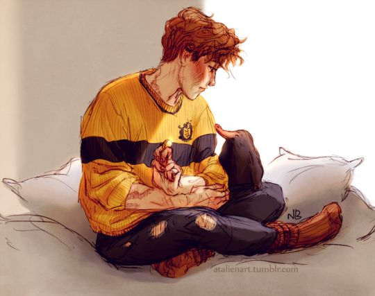Newt and Niffler by natello-universe