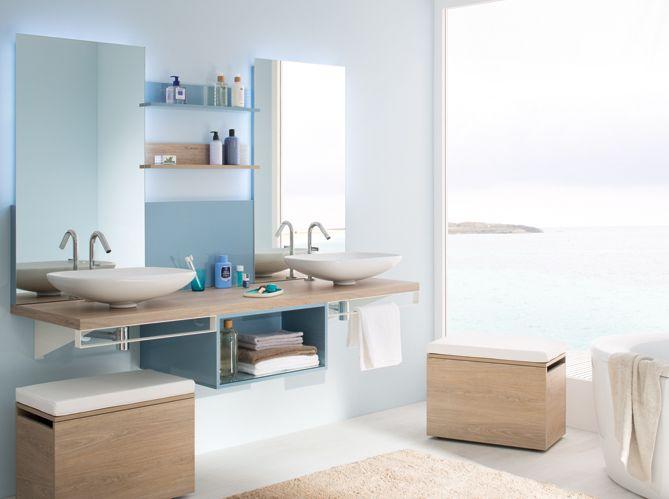 Foncé, pastel, marine ou turquoise: quel tonalité de bleu pour votre salle de bains ?...