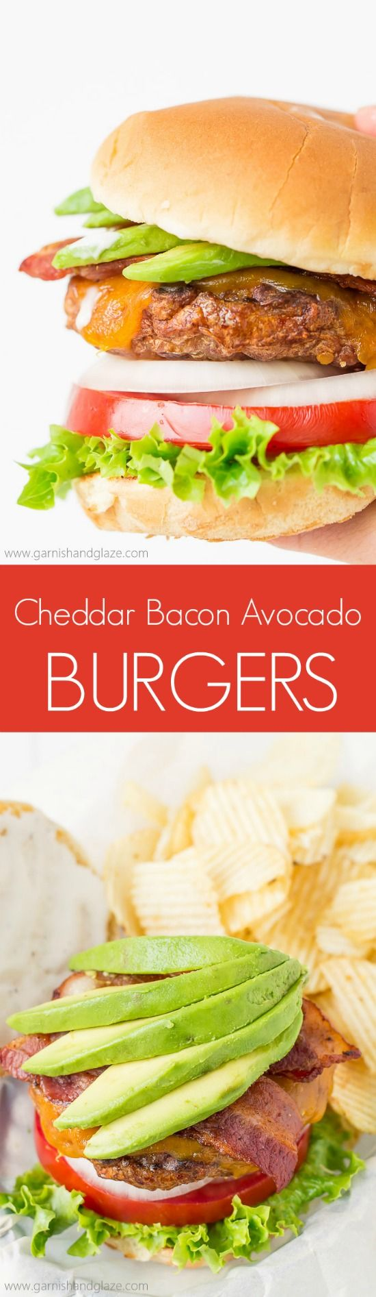 Fire up the grill and celebrate National Burger Day with these flavor packed Cheddar Bacon Avocado Burgers! @jvillesausage #ad
