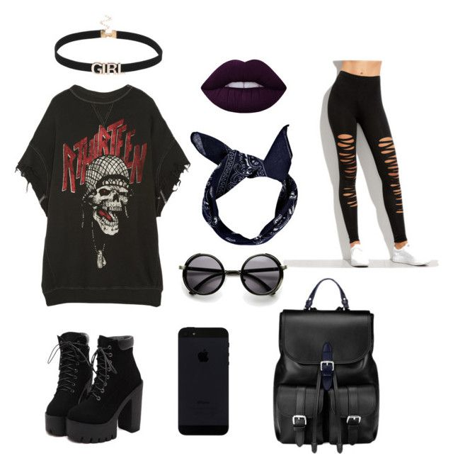 """""""Dark kiss"""" by emka-kruta on Polyvore featuring R13, Boohoo and Aspinal of London"""