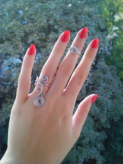 I've got rings on my fingers.... :)) #imadethem #mystyle #handmadejewellery